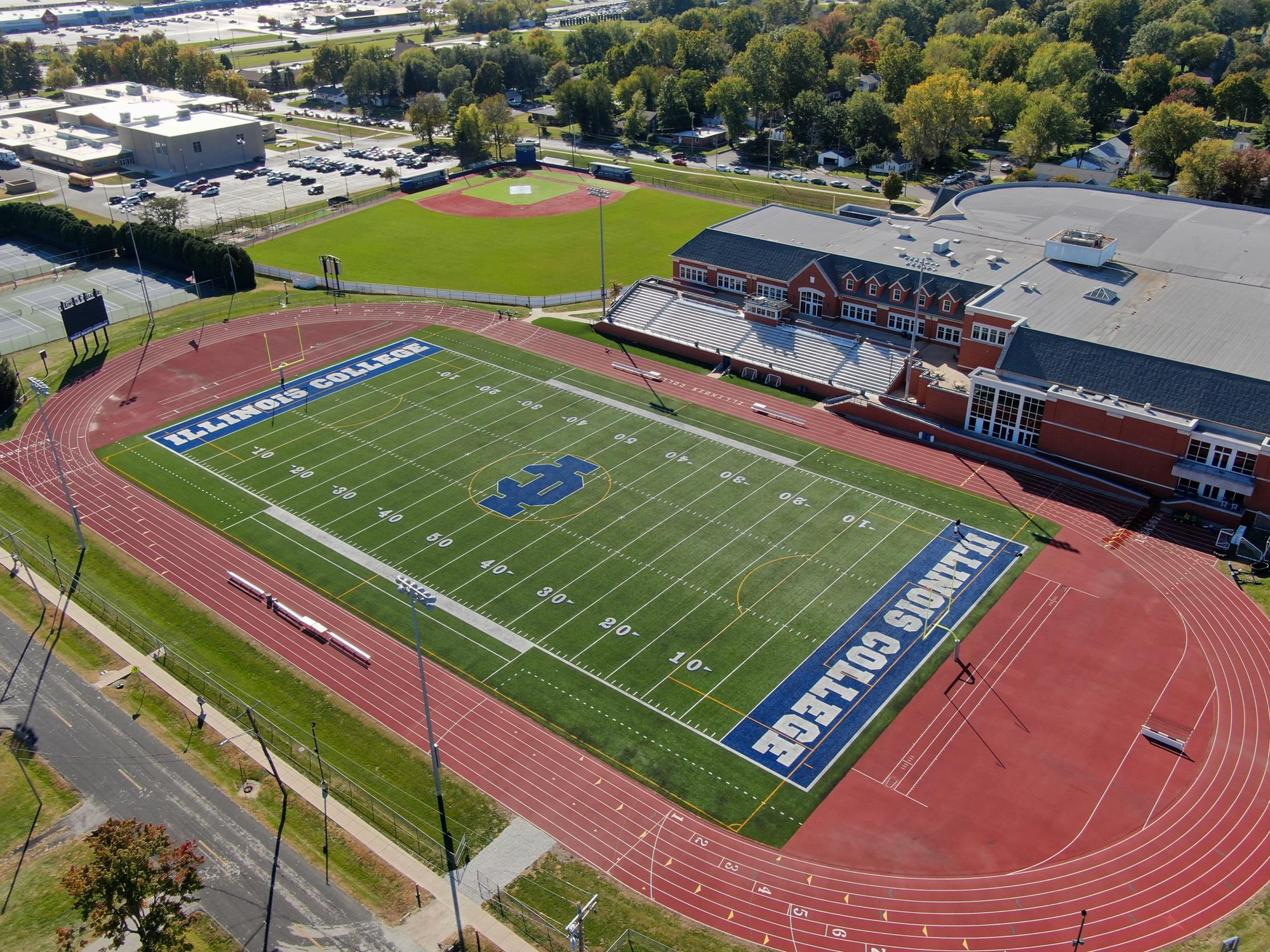 England Stadium Facilities Illinois College Athletics