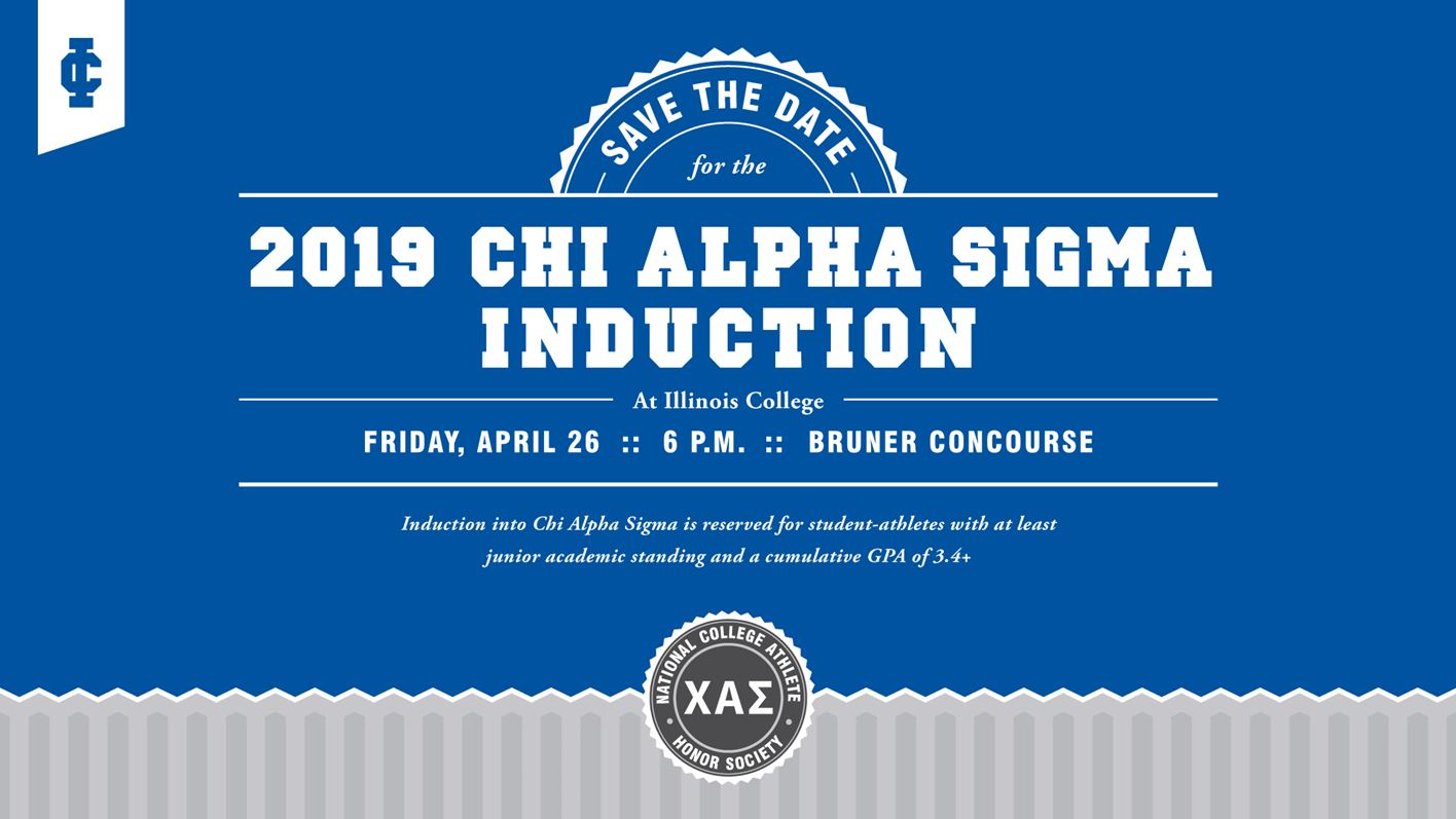 Illinois College Inducts First Class into Chi Alpha Sigma